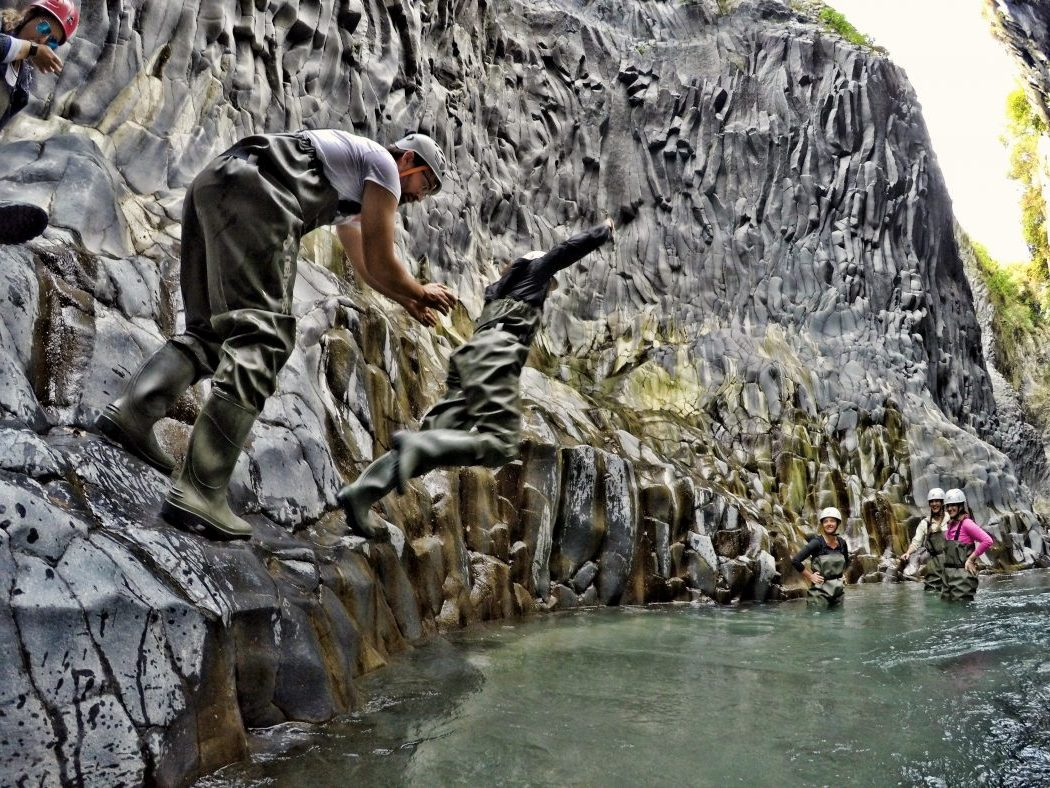 Salto river trek gole alcantara sicily green adventures