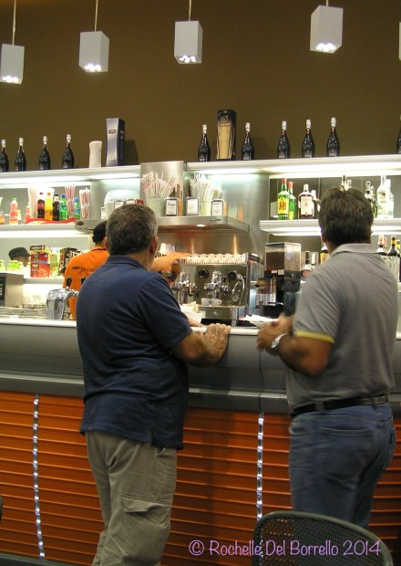 Two Sicilians at the bar