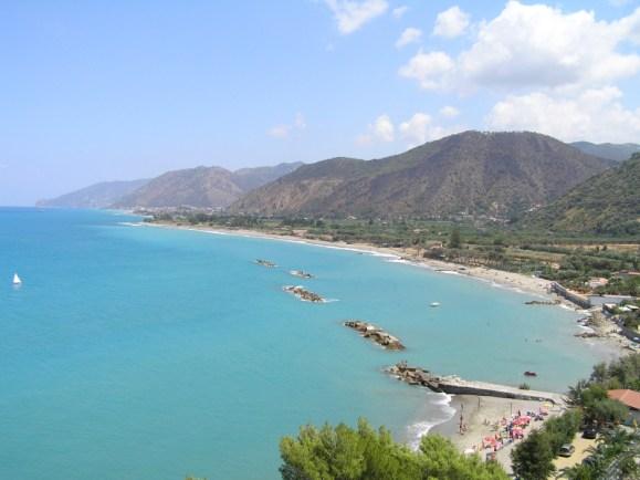 The deep blue sea near Capo d'orlando