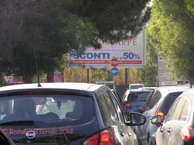 Traffic near Giardini
