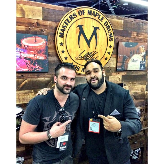 @sickmarkgoodwin at @mastersofmaple drums today at NAMM @thenammshow