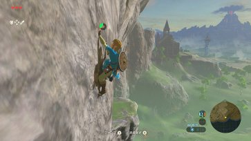 Climb huge rock faces to get to Shrines.
