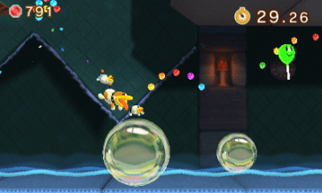Poochy Dash delivers missions - this one gets you to pop all the bubbles.