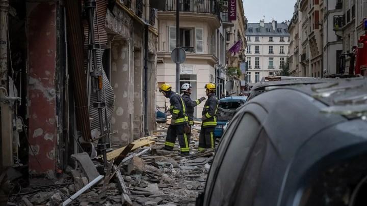 Explosion à la rue Trévise à Paris (75)