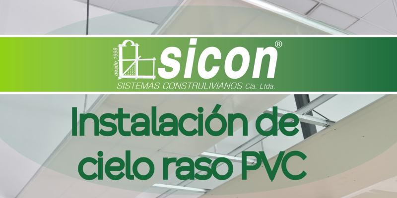 Instalación de cielo raso PVC