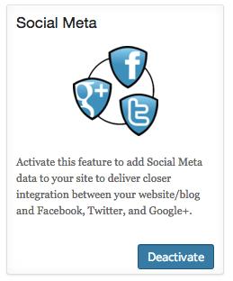 Social Metaの有効化
