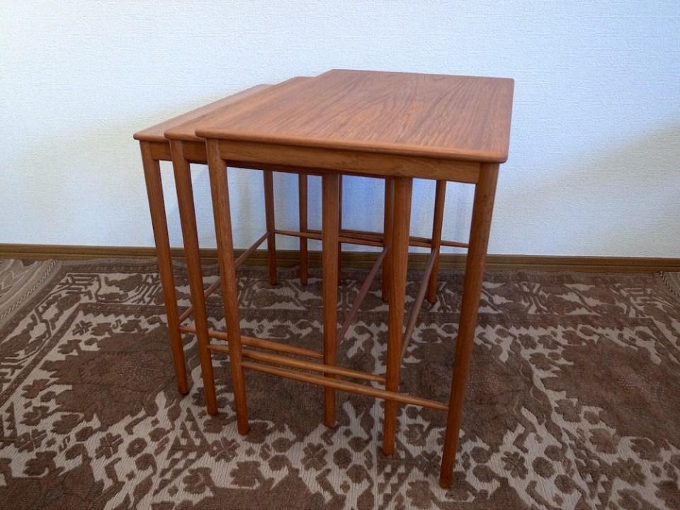 チーク ネストテーブル-1