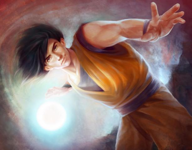 dragonball_z__son_goku__realism__by_shilesque-d5nmhx0