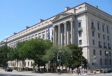 DOJ building: the Department opposed several of the amendments to the fraud sentencing guideline