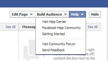 Facebook help and support