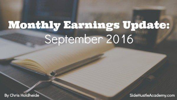 Monthly Earnings Update: September 2016