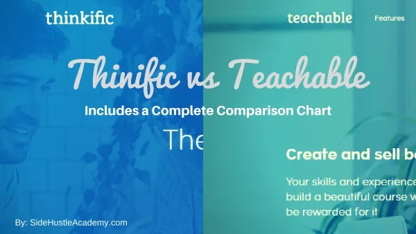 Thinkific vs Teachable – A Complete Comparison Chart