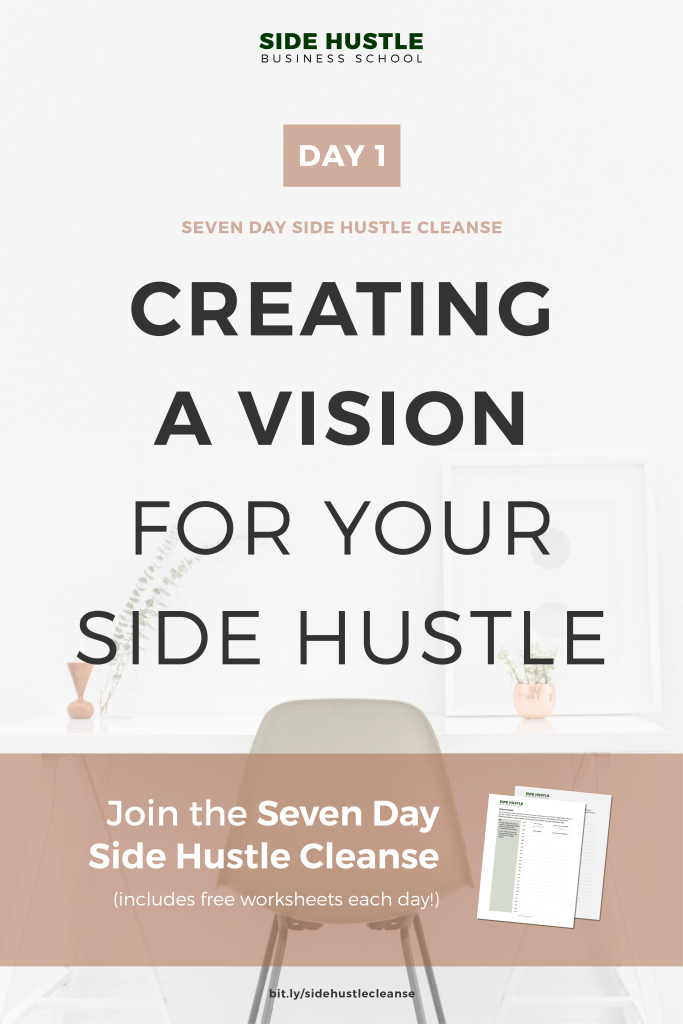 Side Hustle Cleanse Day 1 Pinterest Graphic