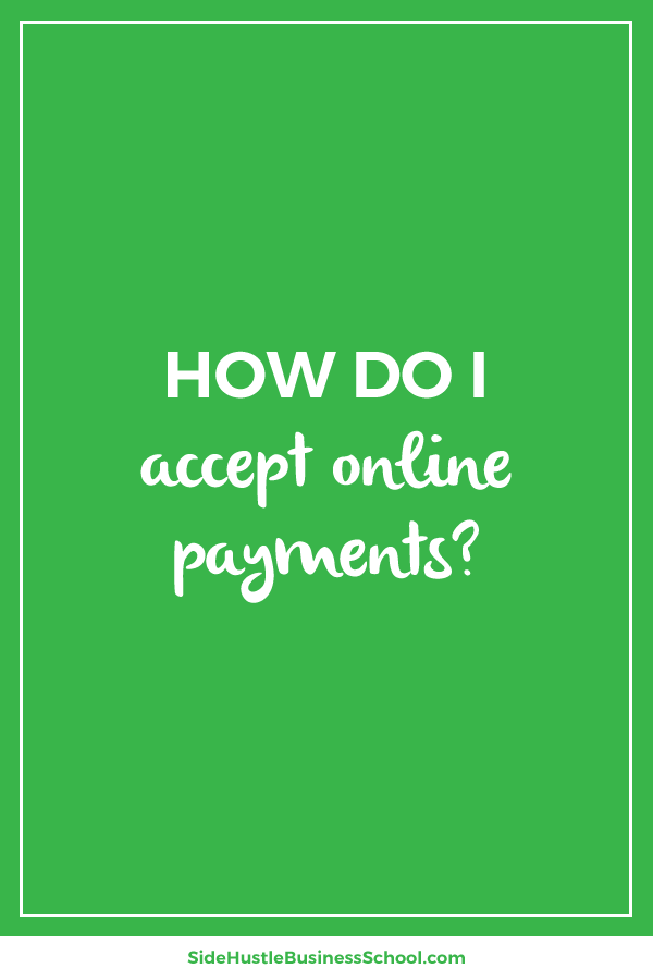 How do I accept online payments graphic