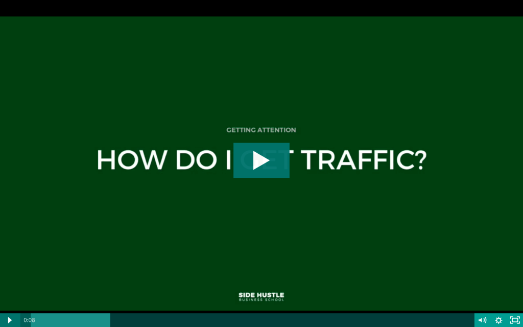 How do I get traffic to my website - Side Hustle Business School