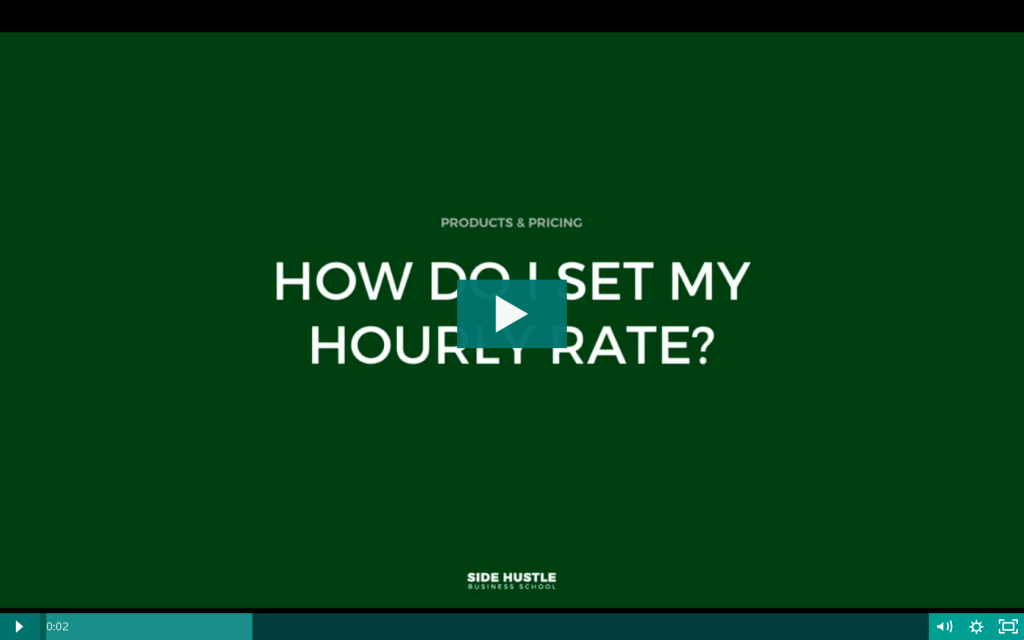 How do I set my hourly rate - Side Hustle Business School