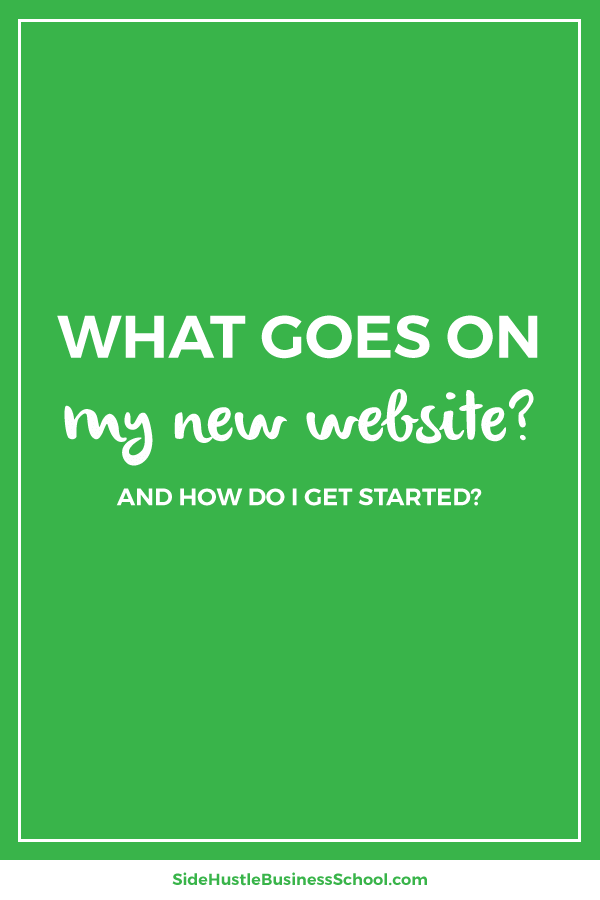What goes on my new website graphic