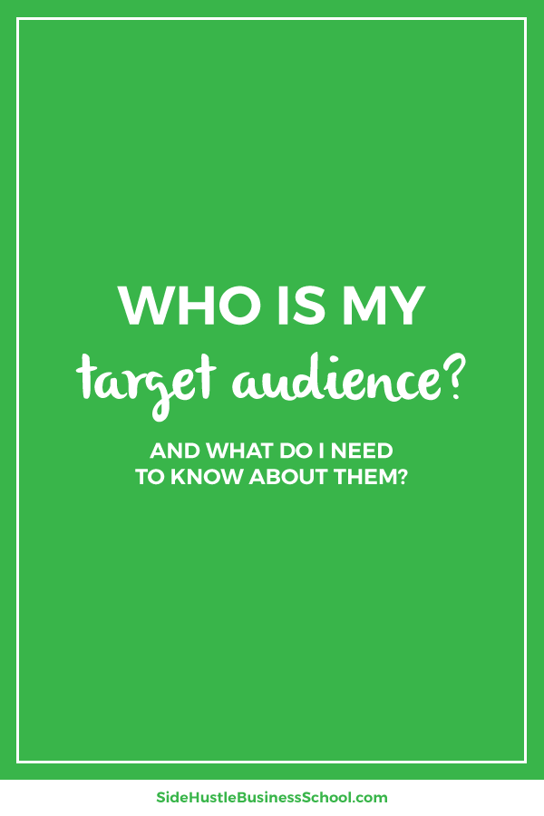 Who is my target audience and what do I need to know about them graphic