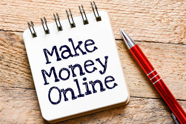 Make Money Online notepad with pen