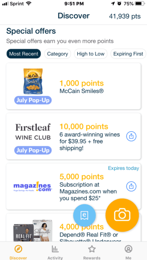 Fetch Rewards App - Ways to Earn Points