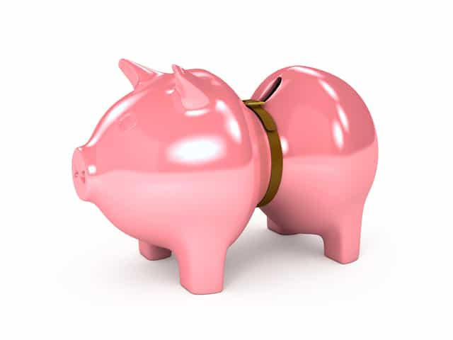 Piggy Bank - strapped for cash - pay off debt