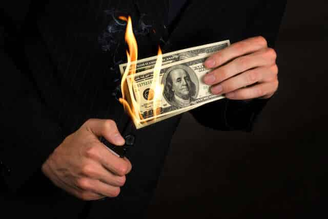 Flaming Money - Mistakes Six Figure Earners Make
