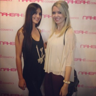 On the pink carpet at Nakeah Cosmetics