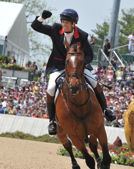The winning duo, William Fox-Pitt and Parklane Hawk, take their victory gallop at Rolex in 2012. Photo by Lauren R. Giannini