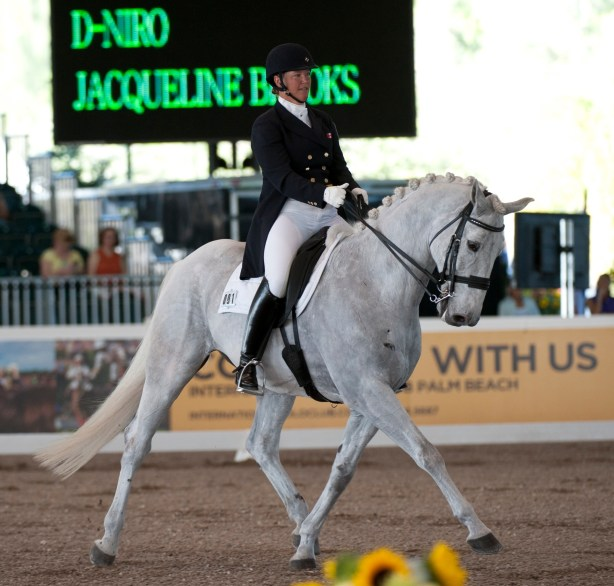 D-Niro and Jacqueline showing off the work ethic and style that earned them third place in the Grand Prix Special CDI5* at the 2013 World Dressage Masters.  Photo by Allen MacMillan/MacMillan Photography