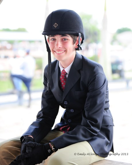 Jack shows off his smile after competing in his first class. Photo by Emily Allongo Photography