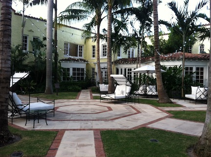 Jack and his family stayed at the beautiful Brazilian Court Hotel in Palm Beach.