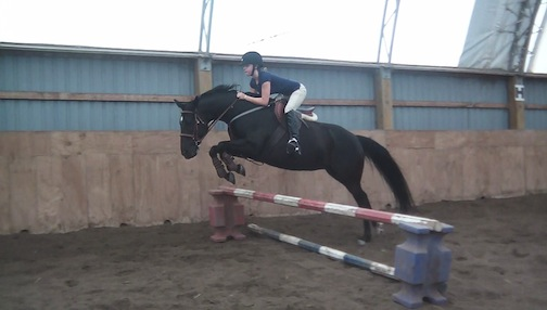 Taylor and Paula are now jumping again – proving anything is possible! Photo courtesy of Taylor Spurgeon