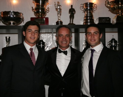 Carlos and his sons, Mariano, left, and Carlos, Jr., who are both professional polo players. Photo by Alex Pacheco