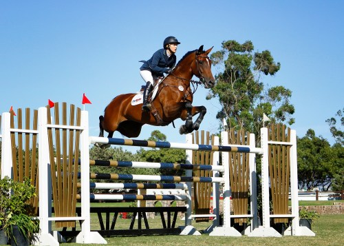 Comeback Trail: Ashlee's comeback started when she won first and second place in the $25,000 Classic Grand Prix at Blenheim Equisports in 2007. Photo courtesy of Blenheim Equisports