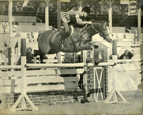 Buddy and Pappy competing at Devon in the Junior Jumpers in 1972.  Photo courtesy of Buddy Brown