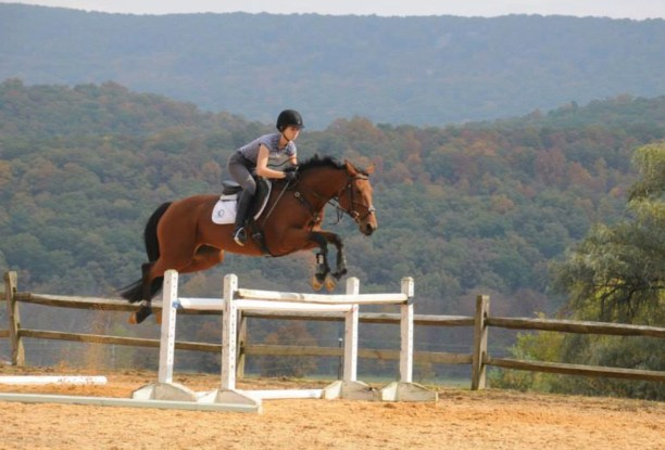 Gillian and her horse Punky sail over a jump. (Photo courtesy of Sue Cavanaugh)