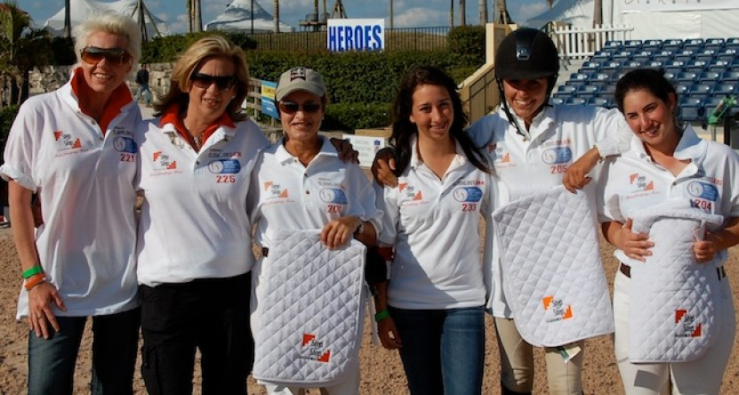 The Step by Step riders during the Great Charity Challenge. From the left, Kathy Andersen, Liliane, Margie Engle, Daniela Stransky, Christina Kelly and Jennifer Waxman. (Photo courtesy of Step by Step Foundation)
