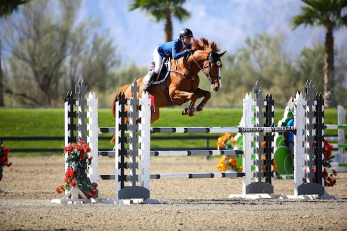 Valentina RC and Chenoa catching air during the HITS $10,000 Jr./AO Medium Classic. (Photo by Sharon McElvain)