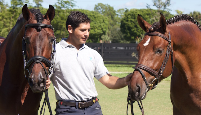 Jaime with his star horses Legend (left) and Rey (right). Photo courtesy of Jaime Amian