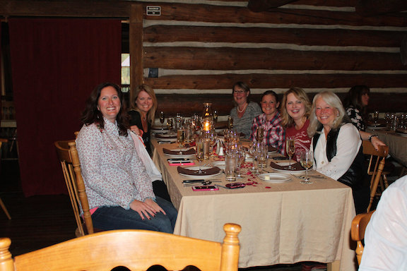 A fabulous five-course dinner during Ladies Week. Photo by Anne Joubert
