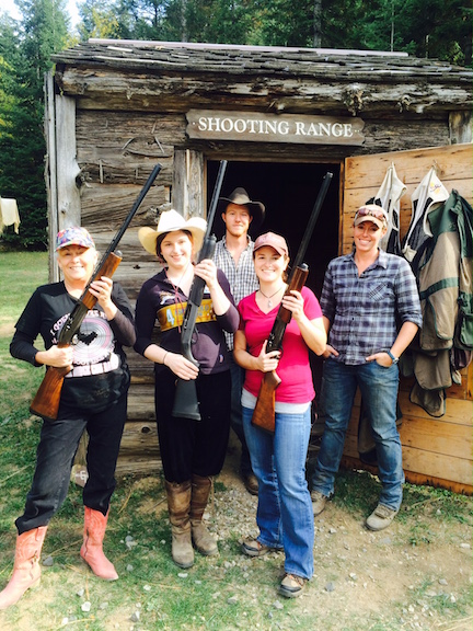 Clay shooting at Red Horse. Photo by Jan Westmark