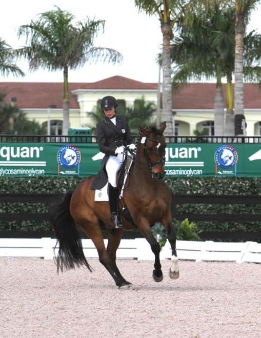 Competing at the Global Dressage Festival in Wellington: Kaitlin and Daverden. Photo by Richard Malmgren, RBM Photography