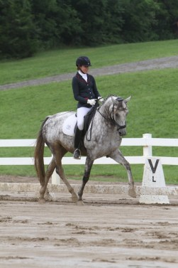Kaitlin and her own Eden LHF, a 2009 KWPN mare by UB40 out of Arunee by Sir Sinclair. Photo by Richard Malmgren, RBM Photography