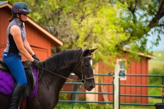 Sassy and Melissa enjoying a ride on a perfect Colorado afternoon. Photo by Vicki Christensen, The Victory Studio