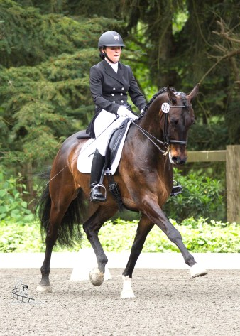 A lifelong Pony Club rider, dressage has always been Jen's passion. Photo by Carolynn Bunch