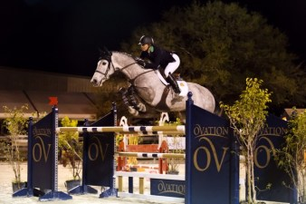 Piloting Cavalier II around a course Photo by Victoria DeMore