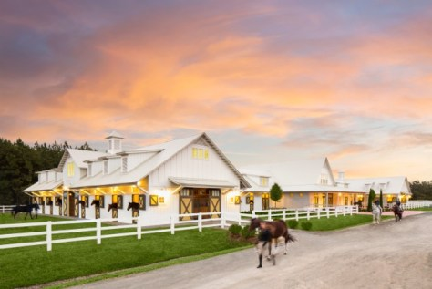 The new equestrian center at SCAD was completed in 2015.