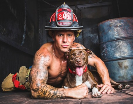 Dustin Ford and Caityln – a dog who became the face of anti-cruelty efforts across the country after she was found in a North Charleston neighborhood with her muzzle wrapped in electrical tape.
