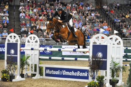 Matt Cyphert and Lochinvar jumping the Mutual of Omaha jump. Started in 1979, the FEI World Cup™ Jumping Final is an annual international showdown among the world's best show jumping horses and riders.