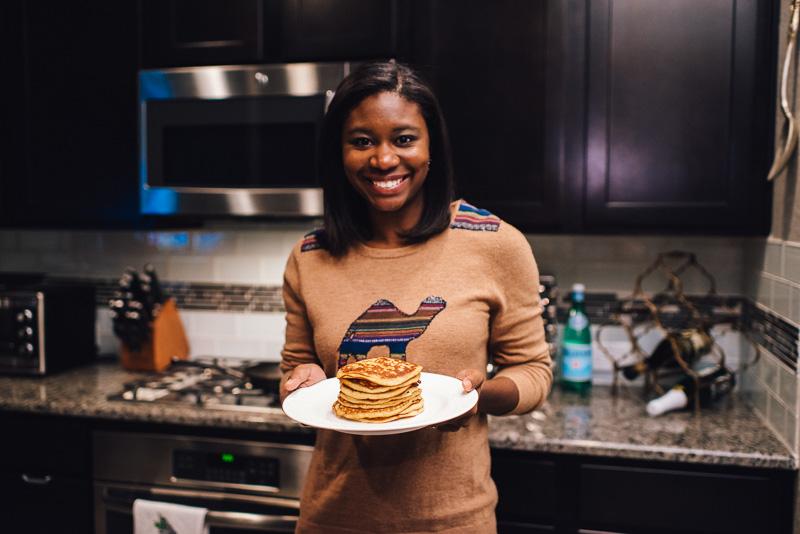 Holiday Recipe: Egg Nog Pancakes + Egg Nog Syrup Sideline Socialite